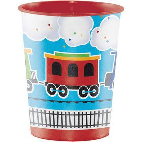 Train Party 16oz Plastic Favor Cup (1)