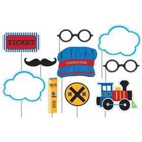 Train Party Assorted Photo Props (10 Pack)