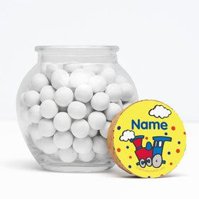 "Train Party Personalized 3"" Glass Sphere Jars (Set of 12)"