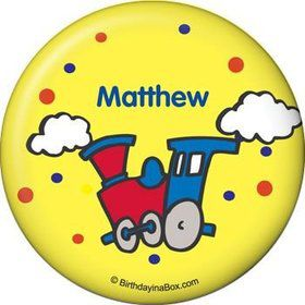 Train Party Personalized Button (each)