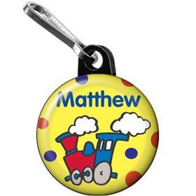 Train Party Personalized Mini Zipper Pull (each)