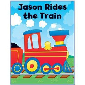 Train Personalized Coloring Book (each)