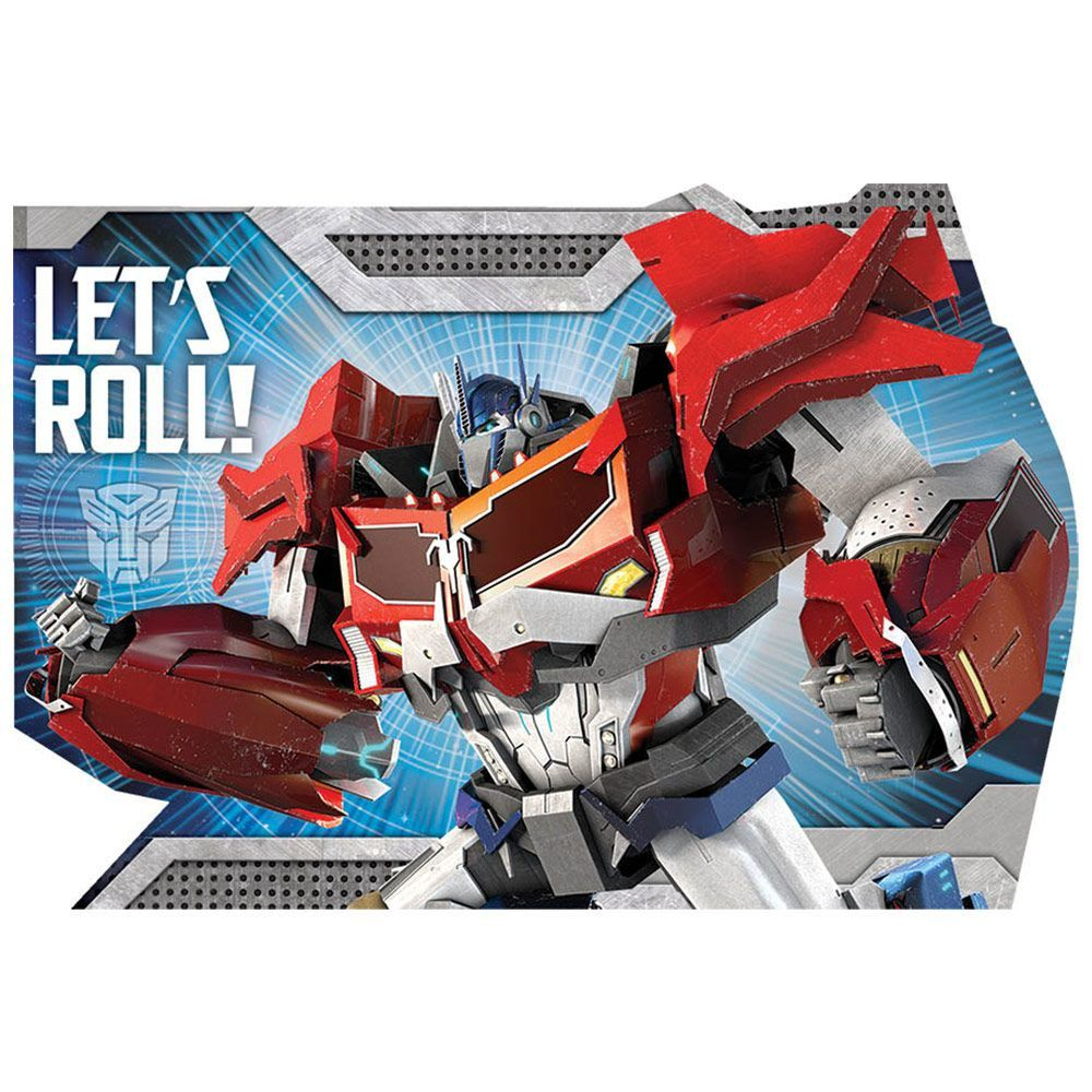 Transformers Postcard Invitations - Party Invitations and Individual ...