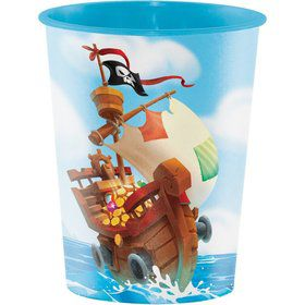 Treasure Island Pirate 16oz Plastic Favor Cup (1)