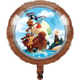 "Treasure Island Pirate 18"" Foil Balloon (1)"