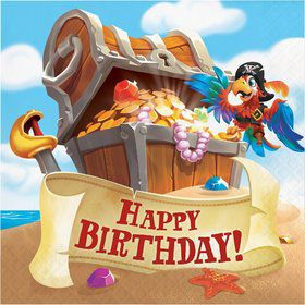 Treasure Island Pirate Happy Birthday Lunch Napkin (16)