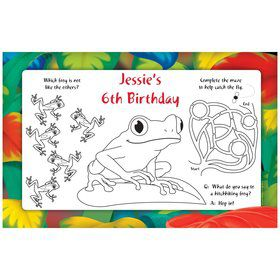Tree Frog Personalized Activity Mats (8-Pack)