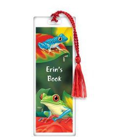 Tree Frog Personalized Bookmark (each)