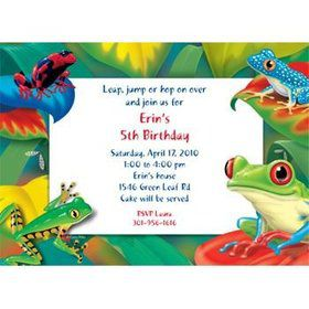 Tree Frog Personalized Invitation (each)