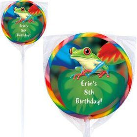 Tree Frog Personalized Lollipops (pack of 12)