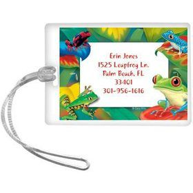 Tree Frog Personalized Luggage Tag (each)