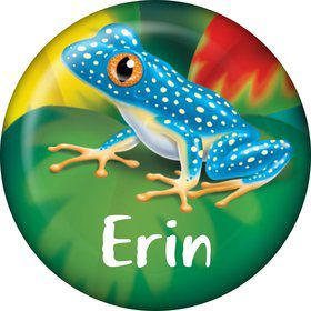 Tree Frog Personalized Mini Button (Each)