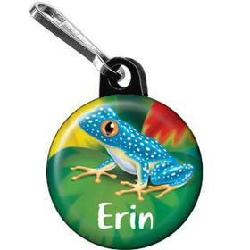 Tree Frog Personalized Mini Zipper Pull (each)