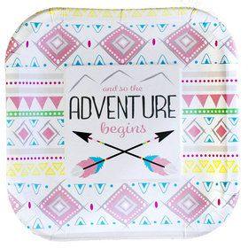 "Tribal Girl Party Plates - 7"" (8)"