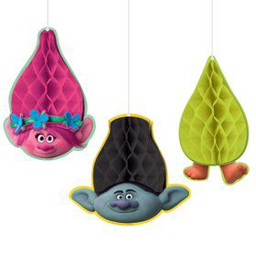 Trolls Honeycomb Decorations (4)