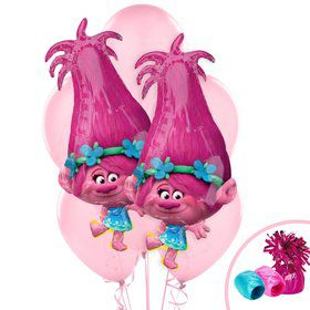 Trolls Jumbo Balloon Bouquet - Poppy