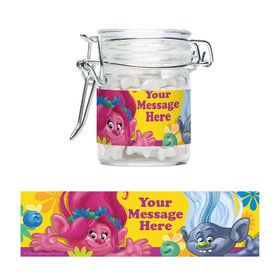 Trolls Party Personalized Glass Apothecary Jars (10 Count)