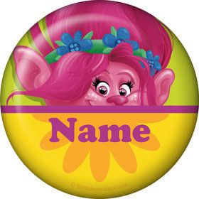 Trolls Party Personalized Mini Button (Each)