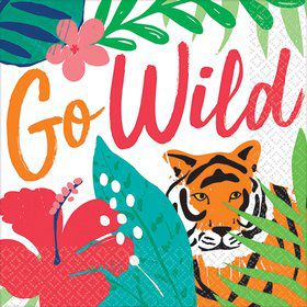 Tropical Jungle Go Wild Beverage Napkins (36)