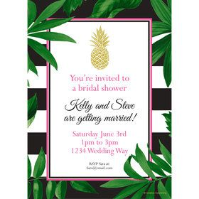 Tropical Pineapple Personalized Invitation (Each)