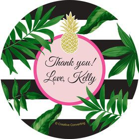 Tropical Pineapple Personalized Mini Stickers (Sheet of 24)