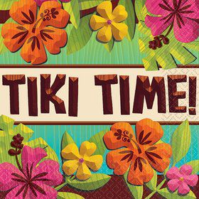 Tropical Tiki Beverage Napkins (125)