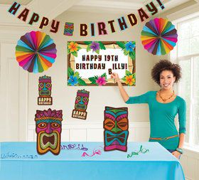 Tropical Tiki Birthday Room Decorating Kit