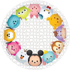 "Tsum Tsum 7"" Cake Plate (8 Count)"
