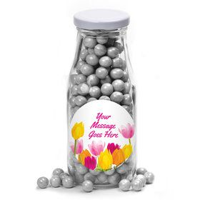 Tulips Personalized Glass Milk Bottles (12 Count)