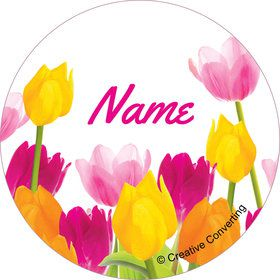 Tulips Personalized Mini Stickers (Sheet of 24)