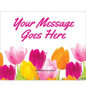 Tulips Personalized Rectangular Stickers (Sheet of 15)