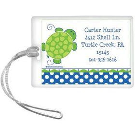 Turtle Party Personalized Luggage Tag (each)
