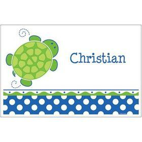 Turtle Party Personalized Placemat (each)