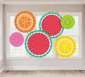 Tutti Frutti Fan Hanging Decorations