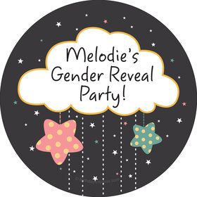 Twinkle Twinkle How We Wonder Gender Reveal Personalized Stickers (Sheet of 12)