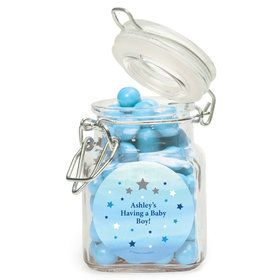 Twinkle Twinkle Little Star Blue Personalized Glass Apothecary Jars (12 Count)