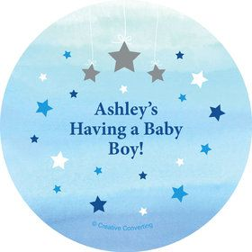 Twinkle Twinkle Little Star Blue Personalized Mini Stickers (Sheet of 24)