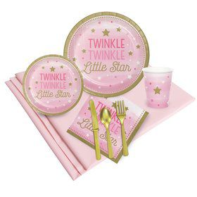 Twinkle Twinkle Little Star Pink Party Pack 24