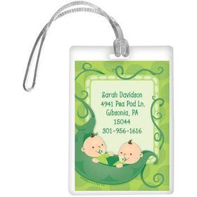 Twin's 1st Birthday Personalized Luggage Tag (each)