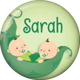 Twin's 1st Birthday Personalized Mini Button (each)