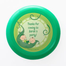 Twins 1st Birthday Personalized Mini Discs (Set of 12)