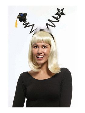 Twirly Black Graduation Headband