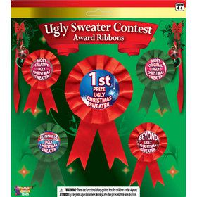 Ugly Sweater Award Ribbons (5)