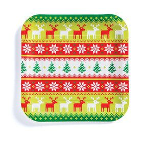 Ugly Sweater Dinner Plates (8)