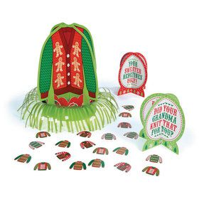Ugly Sweater Table Decoration Set