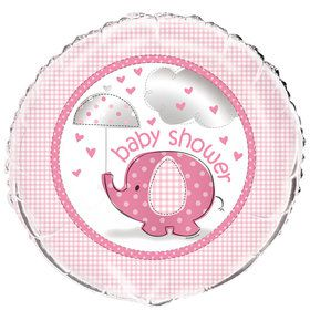 "Umbrellaphants Pink 18"" Foil Balloon"