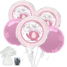 Umbrellaphants Pink Baby Shower Balloon Bouquet Kit