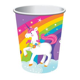 Unicorn 16oz Plastic Favor Cup (1)