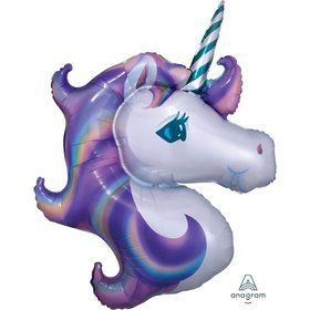 Unicorn 33 Jumbo Shaped Foil Balloon