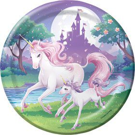 "Unicorn Fantasy 9"" Luncheon Plates (8 Pack)"